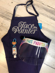 Face Painter Perfect Pair- Includes Apron and Face Shield - Silly Farm Supplies