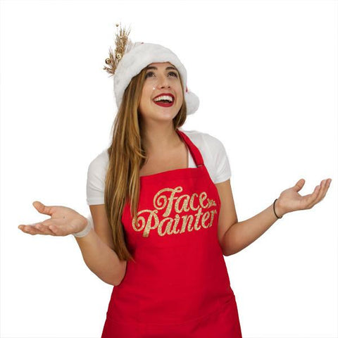 Face Painter Red with Gold Apron