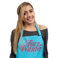 Face Painter Teal with Pink Apron - Silly Farm Supplies