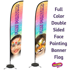 Face Painting Flag Banner with Face Designs - Silly Farm Supplies