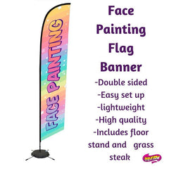 Face Painting Flag Banner- Words Only - Silly Farm Supplies
