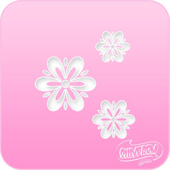 Fancy Daisies Pink Power Stencil - Silly Farm Supplies