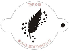 Feather TAP Stencil - Silly Farm Supplies