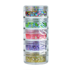 Festivity Chunky Loose Glitter Mix Stack- 5 7.5g by Vivid Glitter - Silly Farm Supplies