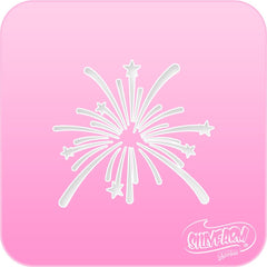 Fireworks Pink Power Stencil - Silly Farm Supplies