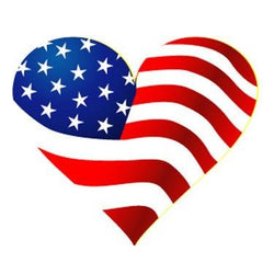 Flag Heart Stickers - Silly Farm Supplies