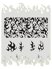 Flames BAD6006 Bad Ass Stencil - Silly Farm Supplies