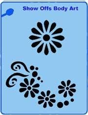 Flowers QuickEZ Stencil - Silly Farm Supplies