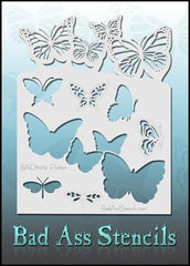 Flutter BAD6039 Bad Ass Stencil - Silly Farm Supplies