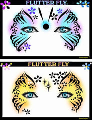Flutter Fly Stencil Eyes Stencil - Silly Farm Supplies