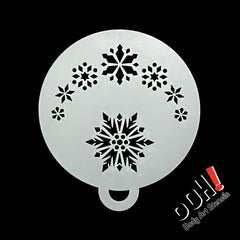 Frozen Snowflake 3 Flips Face Paint Stencil by Ooh! Body Art (C27) - Silly Farm Supplies