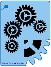 Gears QuickEZ Stencil - Silly Farm Supplies
