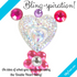Double Heart Crystal Bling Bag- 40 per bag