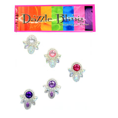 Pink and Purple Mix Dazzle Bling 5pc