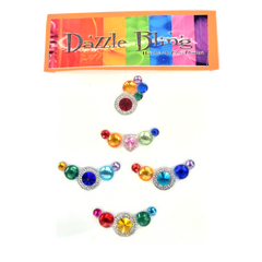 Rainbow Assortment Dazzle Bling 5pc