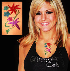 Girls Assorted Glitter Tattoo Stencil 50 Pack - Silly Farm Supplies