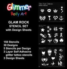 Glam Rock Stencil Collection with Design Sheets - Silly Farm Supplies