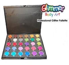 Glimmer Body Art 30-Color Professional Glitter Palette - Silly Farm Supplies