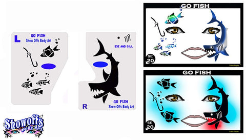 Go Fish/ Shark Stencil Eyes Stencil