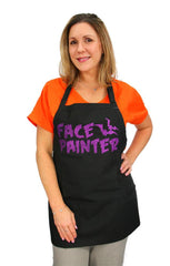 Halloween Face Painter Black with Purple Apron - Silly Farm Supplies