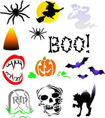 Halloween Trendy Tribal Stencil Pack - Silly Farm Supplies