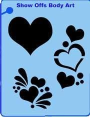 Hearts QuickEZ Stencil - Silly Farm Supplies
