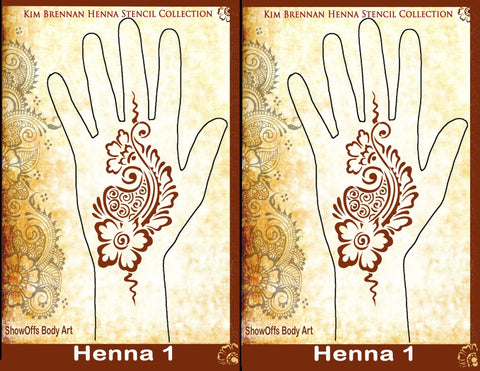 HENNA 1 Kim Brennan Airbrush Stencil Collection