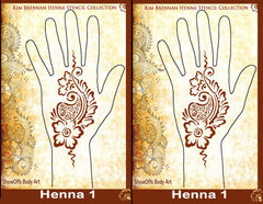 HENNA 1 Kim Brennan Airbrush Stencil Collection - Silly Farm Supplies