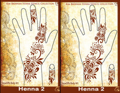 HENNA 2 Kim Brennan Airbrush Stencil Collection - Silly Farm Supplies