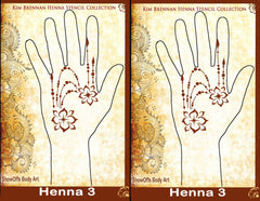 HENNA 3 Kim Brennan Airbrush Stencil Collection - Silly Farm Supplies