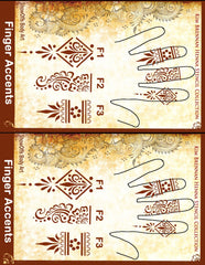 HENNA FINGER ACCENTS 1-3 Kim Brennan Stencil Collection - Silly Farm Supplies