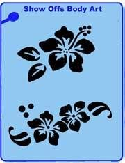 Hibiscus QuickEZ Stencil - Silly Farm Supplies