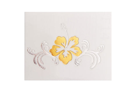 Hibiscus Small Metallic Tattoo 5 Pack