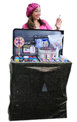 "Hot Pink Craft-n-Go Paint 28"" Station with Accessories - Silly Farm Supplies"