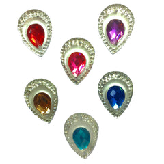 Assorted Colors Jeweled Tear Drop Bling Bag (20 per bag)