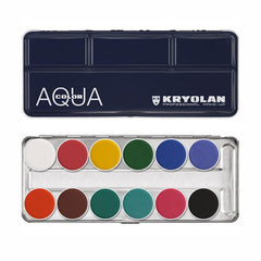 Kryolan 12-Color Aquacolor Palette (1107) - Silly Farm Supplies