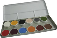 Kryolan 12-Color Supracolor Grease Palette 1004B - Silly Farm Supplies