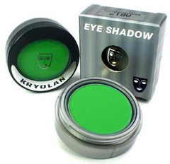 Kryolan Pressed Powder Compact UV Day Glow Green - Silly Farm Supplies