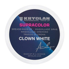 Kryolan SupraColor Clown White 2.5oz - Silly Farm Supplies
