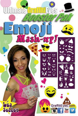 Lea Selley's Emoji Mash Up Graffiti Eyes Stencil Kit - Silly Farm Supplies