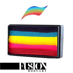 Leanne's Collection Neon Rainbow Split Cake 30gm by Fusion Body Art - Silly Farm Supplies