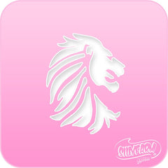 Lion Head Pink Power Stencil - Silly Farm Supplies