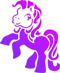 Little Pony Trendy Tribal Stencil - Silly Farm Supplies