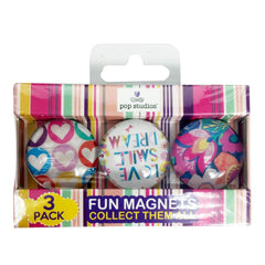 LOVE SMILE DREAM Pop Studios Fun Magnets- 3 pack - Silly Farm Supplies