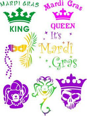Mardi Gras (CARNIVAL) Trendy Tribal Stencil Set - Silly Farm Supplies