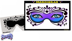 Mardi Gras Stencil Eyes Stencil - Silly Farm Supplies