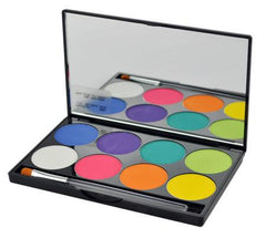 Mehron 8-Color INtense Pro FIRE Palette - Silly Farm Supplies