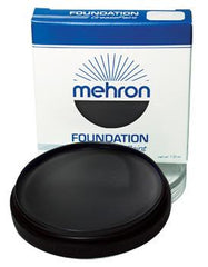 Mehron Foundation Greasepaint Black 1.25oz - Silly Farm Supplies