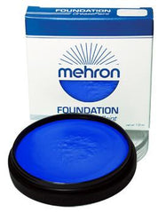 Mehron Foundation Greasepaint Blue 1.25oz - Silly Farm Supplies