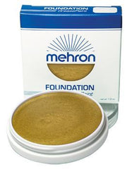 Mehron Foundation Greasepaint Gold 1.25oz - Silly Farm Supplies